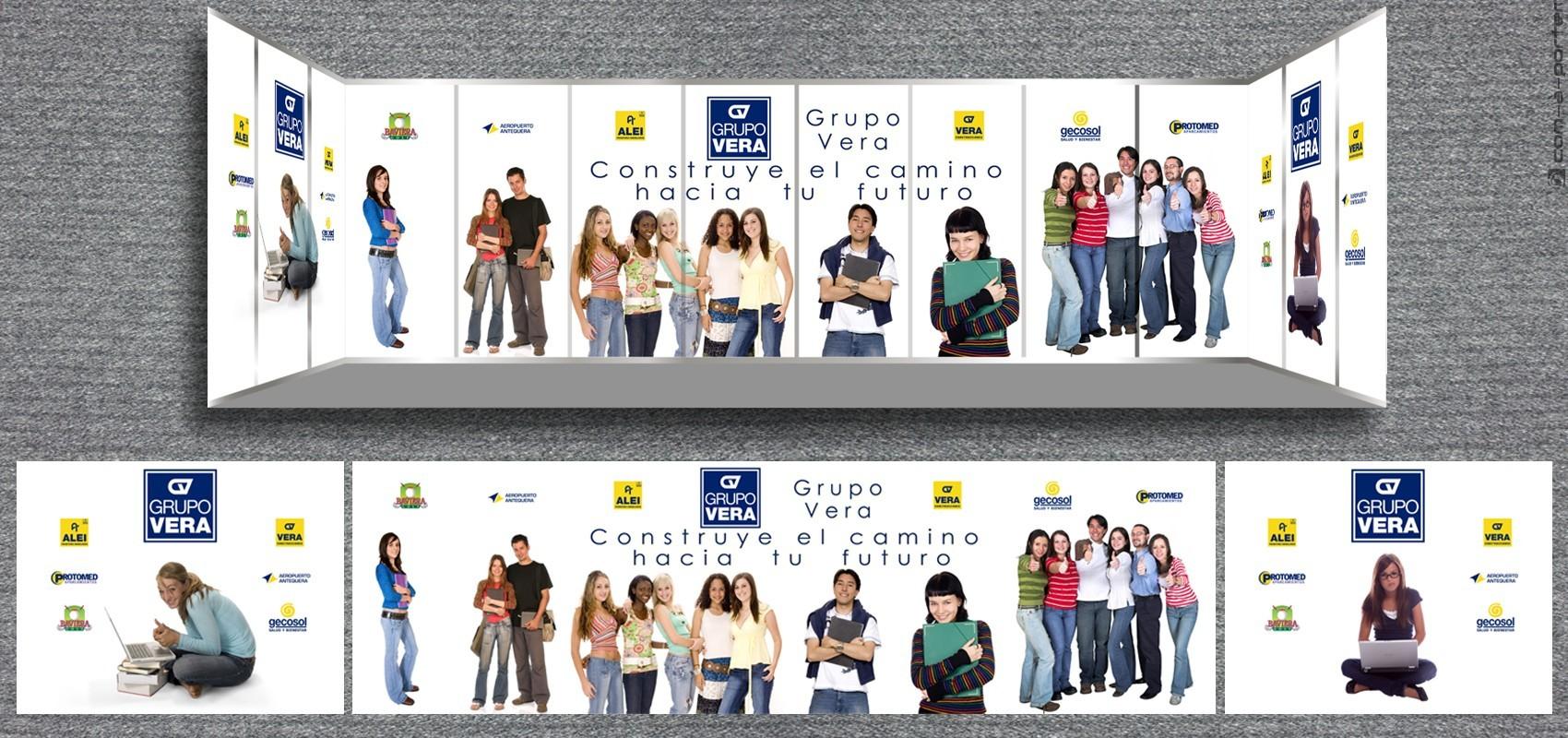 Stand modular Jornada de Puertas Abiertas UMA de Grupo Vera