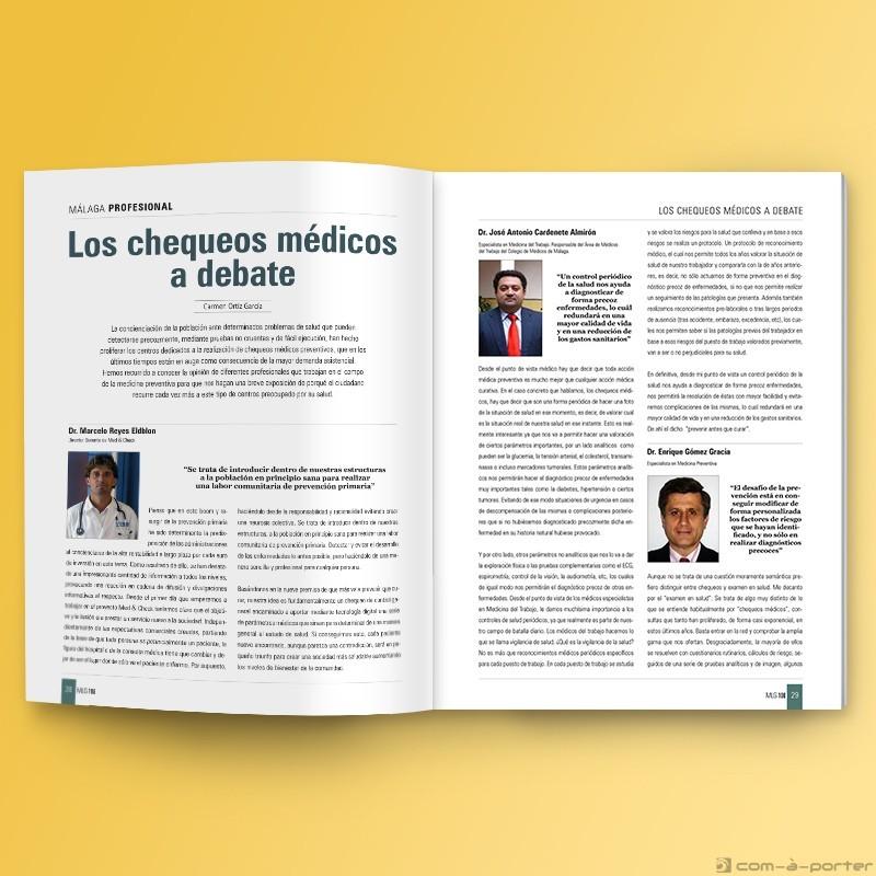 Maquetación de la Revista Nº 108 del Colegio Oficial de Médicos de Málaga