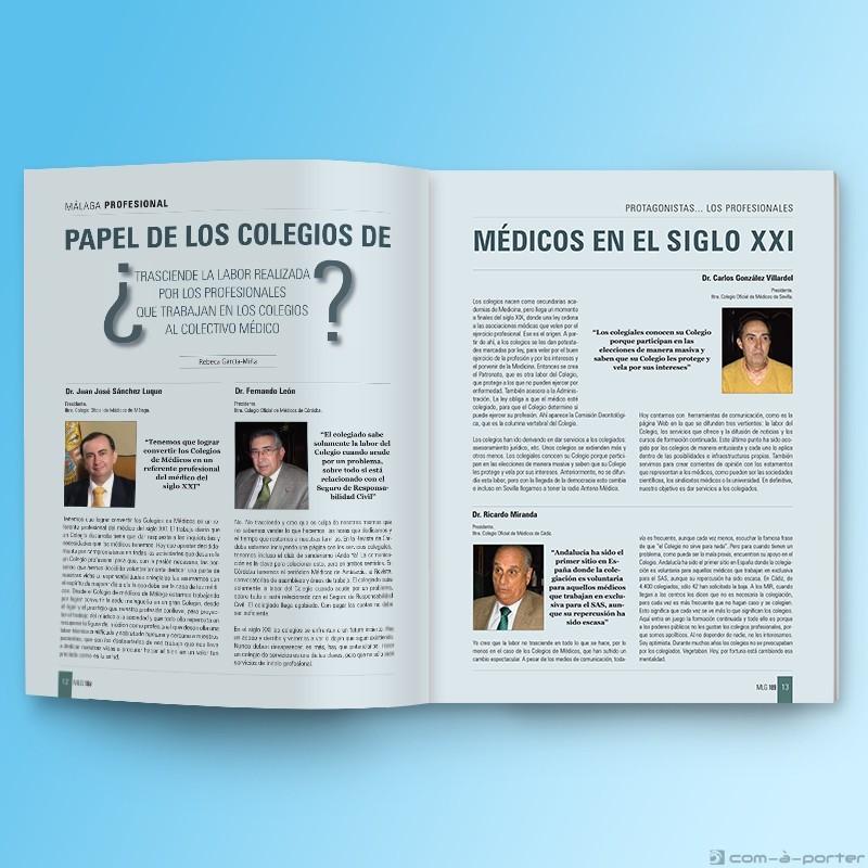 Maquetación de la Revista Nº 109 del Colegio Oficial de Médicos de Málaga