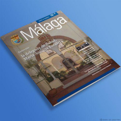 Maquetación de la Revista Nº 107 del Colegio Oficial de Médicos de Málaga