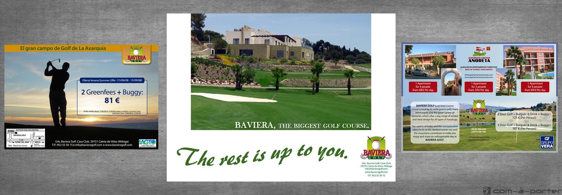 Medias páginas de Publicidad de Baviera Golf