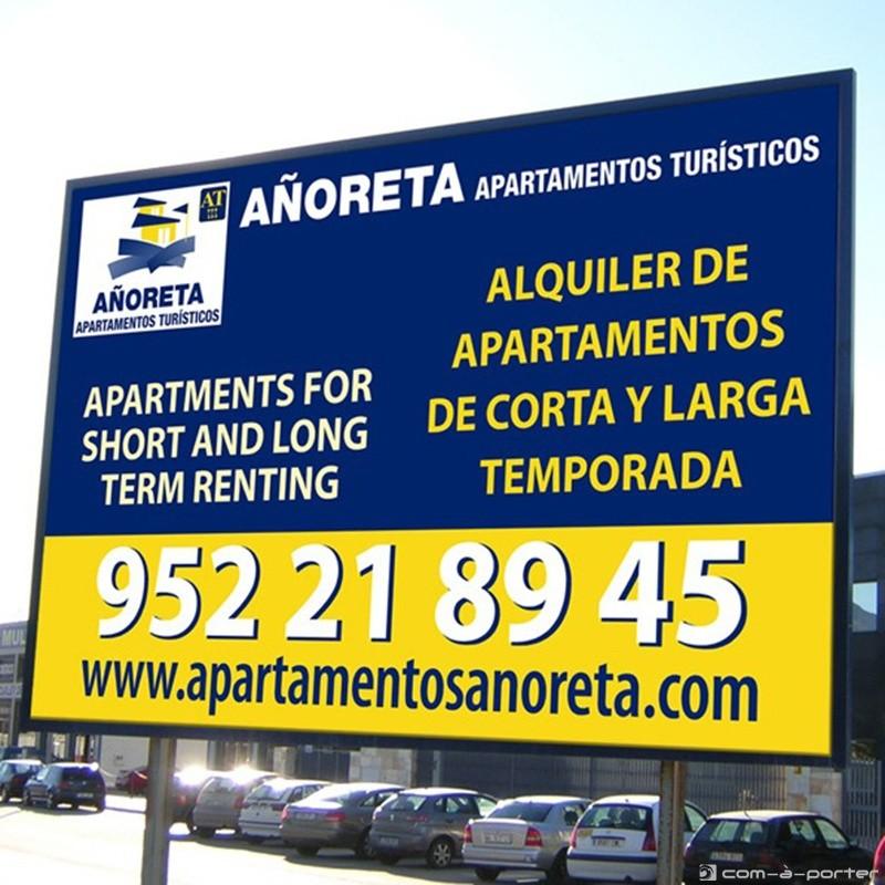 Valla corporativa de Añoreta Apartamentos Turísticos
