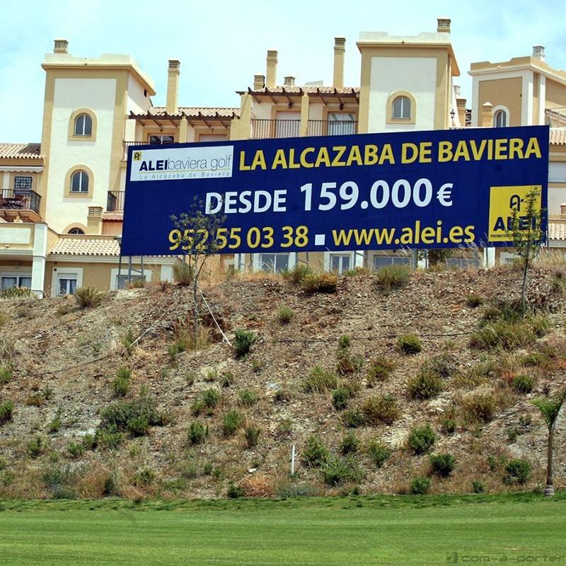 Valla de la promoción de Baviera Golf (ALEI Promotores Inmobiliarios)