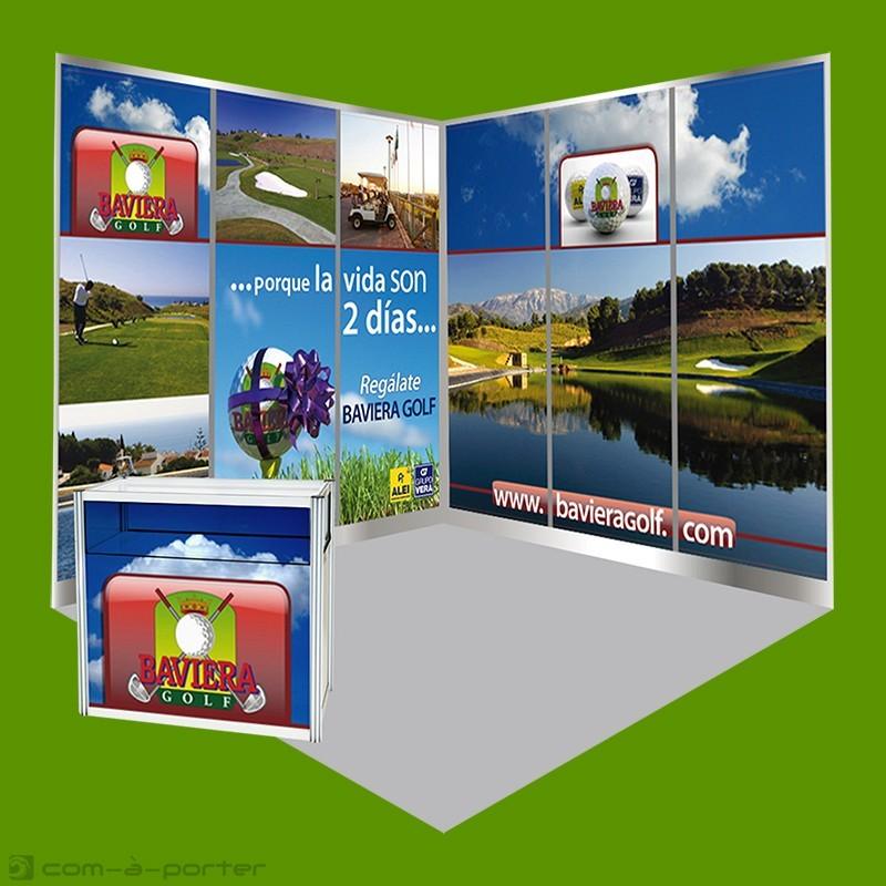 Stand modular de Baviera Golf para feria Mediterranean Golf