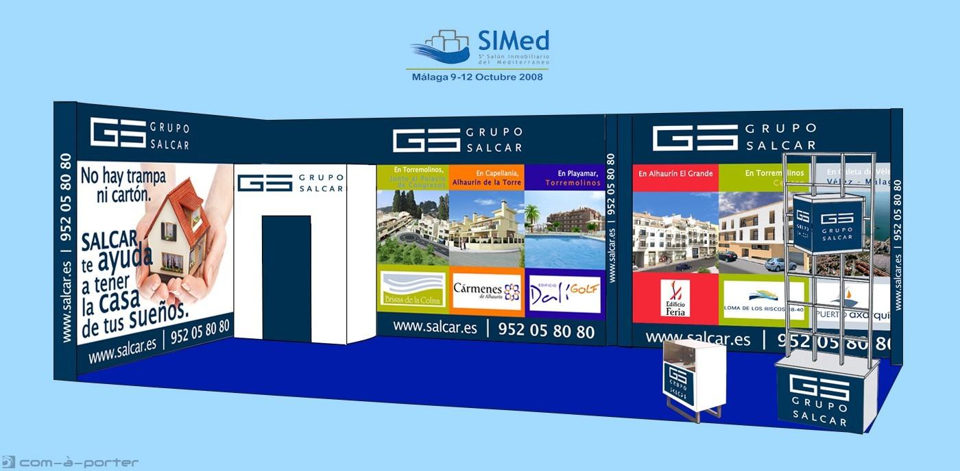 Stand modular de 50 metros para el 5º Salón Inmobiliario del Mediterráneo (SIMed 2008) de Grupo Salcar