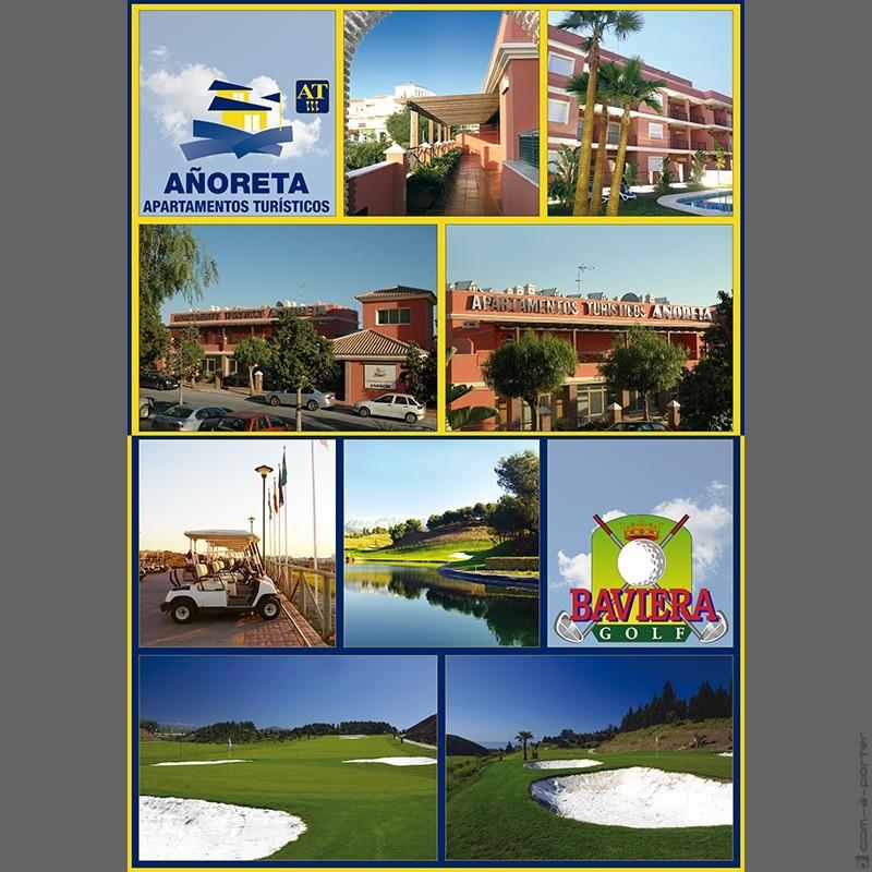 Flyer oferta de verano de Baviera Golf y Añoreta Apartamentos Turísticos