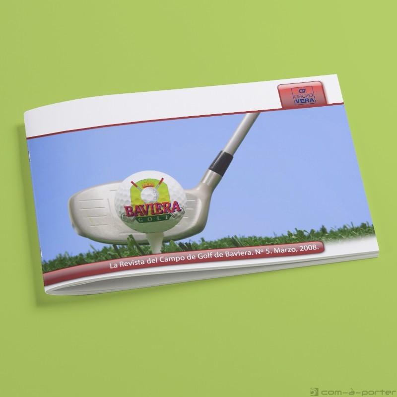 Maquetación de la Revista del Campo de Golf de Baviera