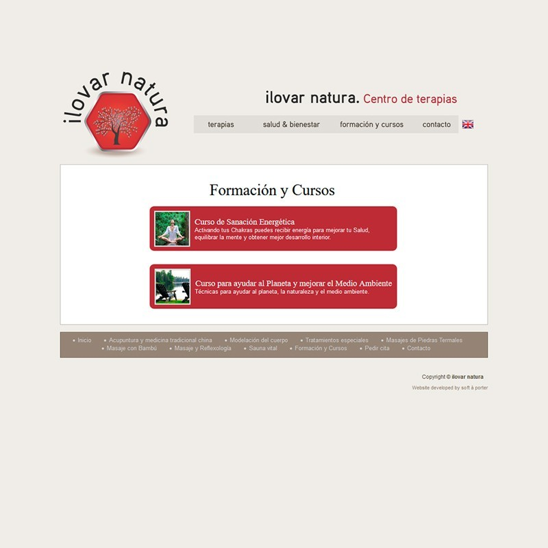 Página web de Ilovar Natura