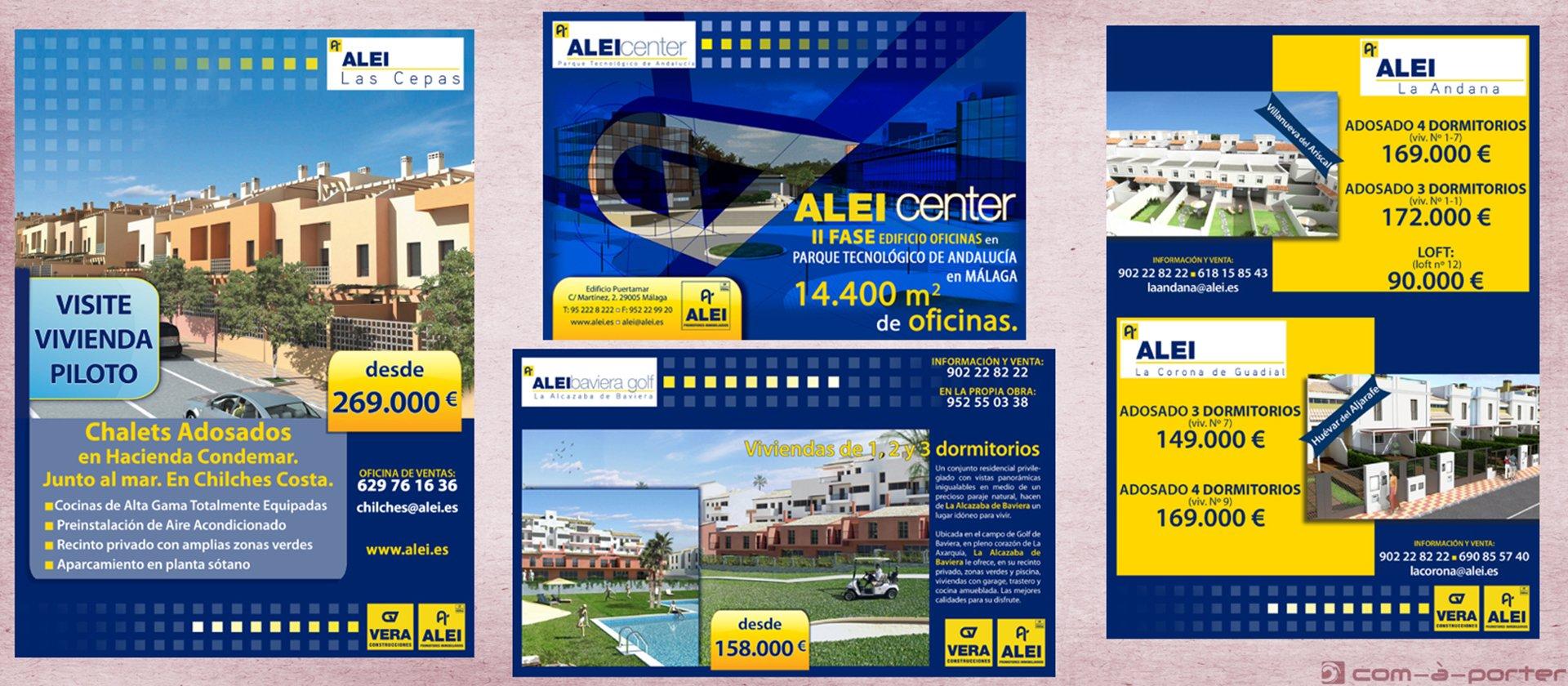Páginas completas de Publicidad Promocional de ALEI Promotores Inmobiliarios
