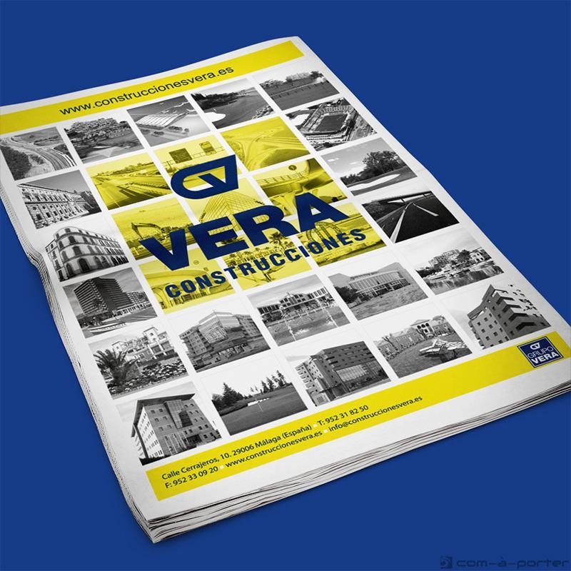 Páginas completas de Publicidad, media página y faldón de Construcciones Vera
