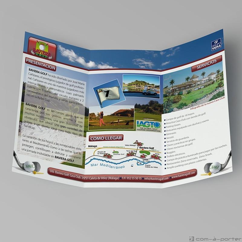 Tríptico informativo de Baviera Golf