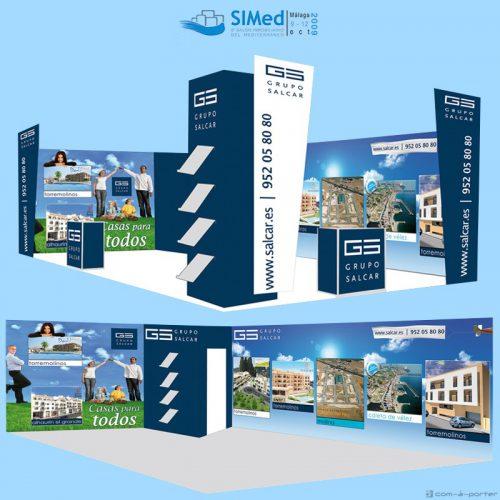 Stand modular de 50 metros para 6º Salón Inmobiliario del Mediterráneo (SIMed 2009) de Grupo Salcar