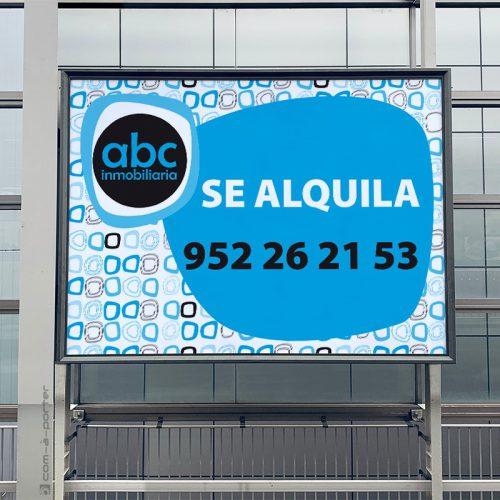 Cartel Se Alquila de ABC Inmobiliaria