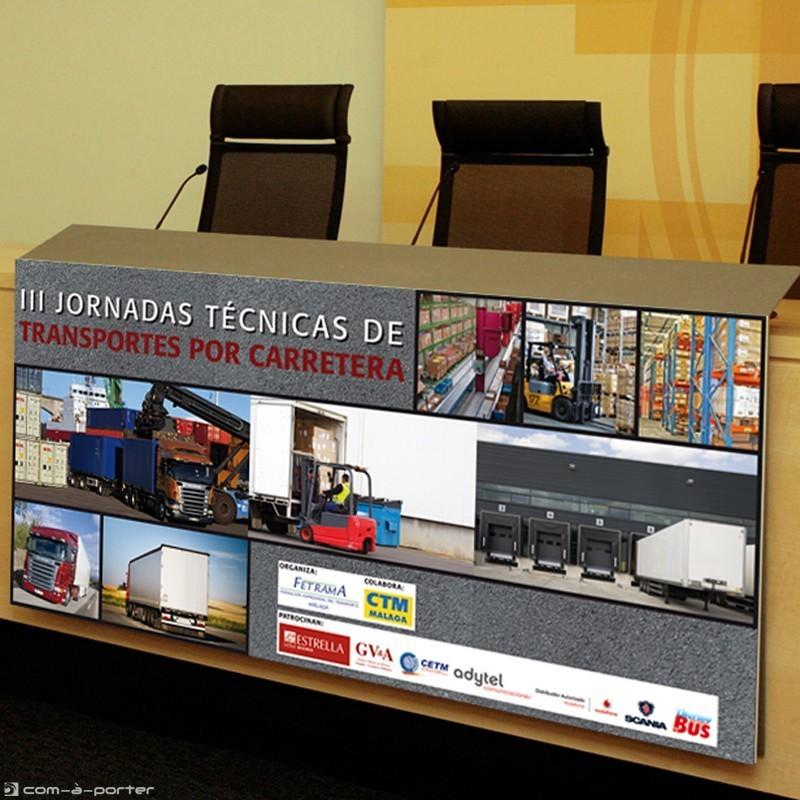 Cartel y Faldón presidencial para III Jornadas Técnicas de Transportes por Carreteras (Organizadas por Fetrama)