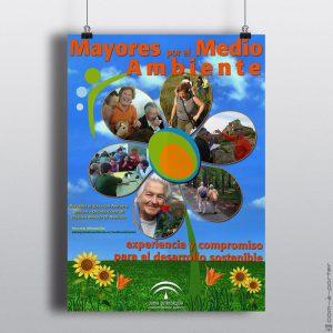 Cartelería de la campaña Mayores por el Medio Ambiente, de Consejería de Medio Ambiente de la Junta de Andalucía