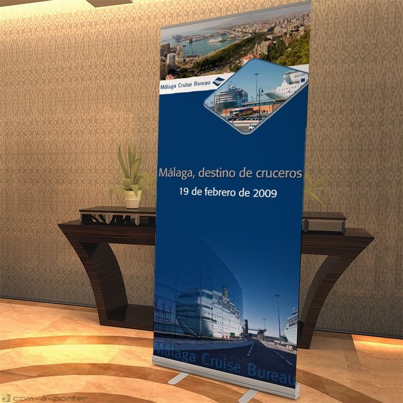 Cartelería de presentación de Málaga Cruise Bureau