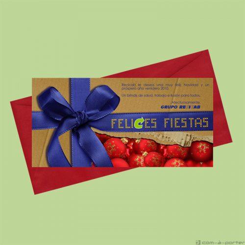 Diseño de Felicitación de Navidad y año nuevo 2010 (Recicab)