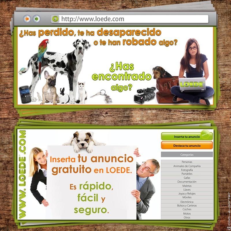 Flyer publicitario del portal de anuncios LOEDE