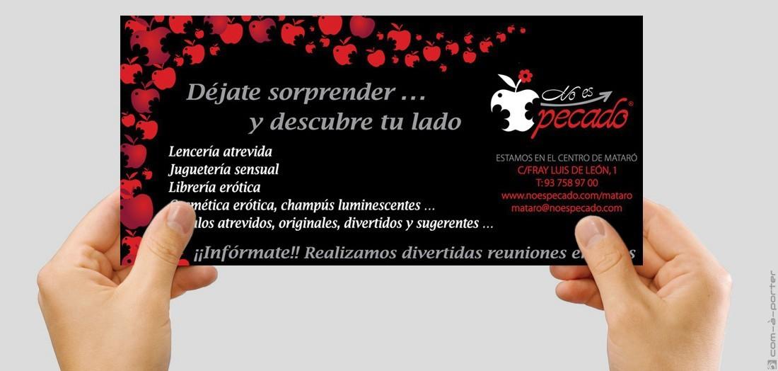 Flyer publicitario de No Es Pecado Mataró