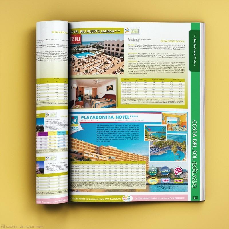 Maquetación de libro de Agencia de Viajes de Más Cerca Viajes