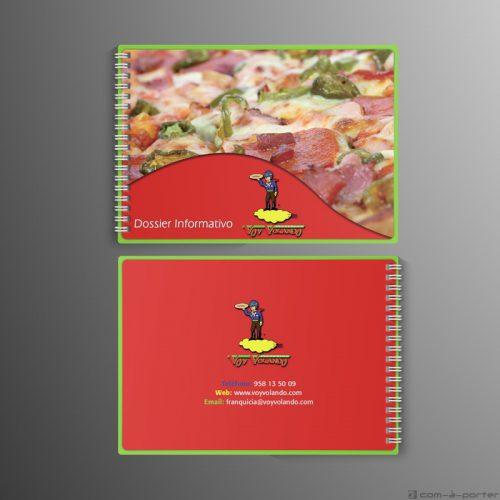 Maquetación de Dossier Informativo de las franquicias Voy Volando (16 páginas)