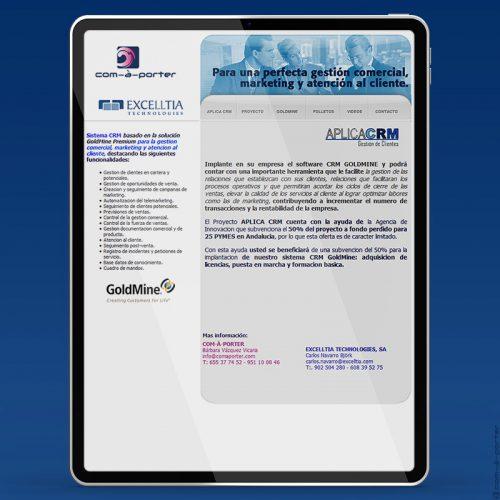 Newsletter Proyecto APLICA CRM de Excelltia Technologies en colaboración con Com-à-porter