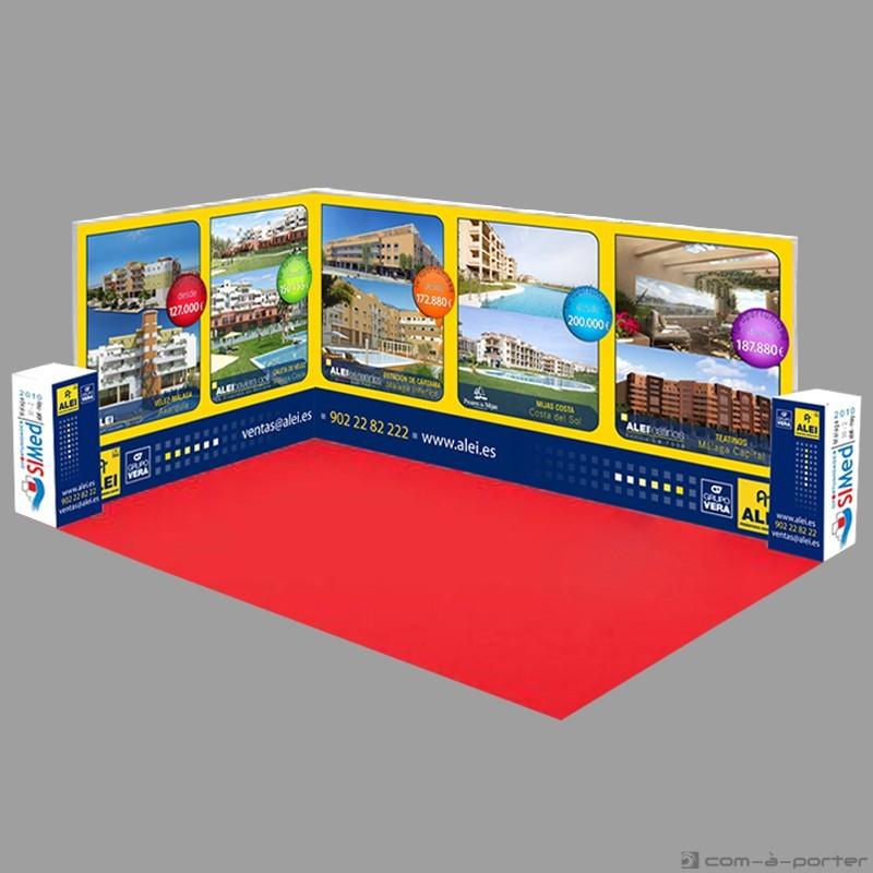 Stand modular de 24 metros de ALEI Promotores Inmobiliarios para Oportunidades SIMed 2010