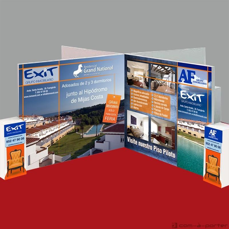 Stand modular de 16 metros de Grupo Inmobiliario EXIT para Oportunidades SIMed 2010