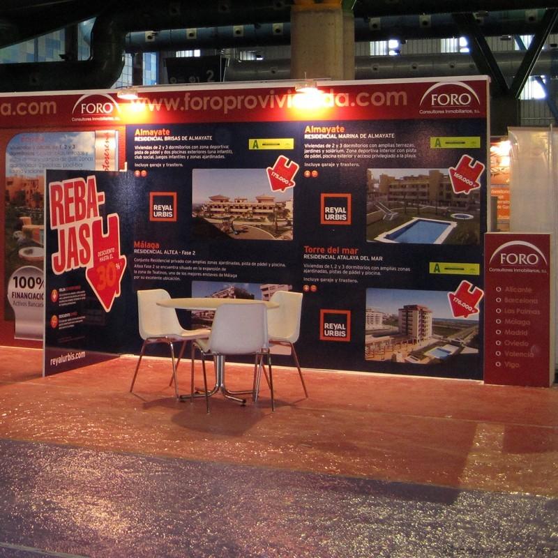 Stand modular de 48 metros de FORO Consultores Inmobiliarios para Oportunidades SIMed 2010