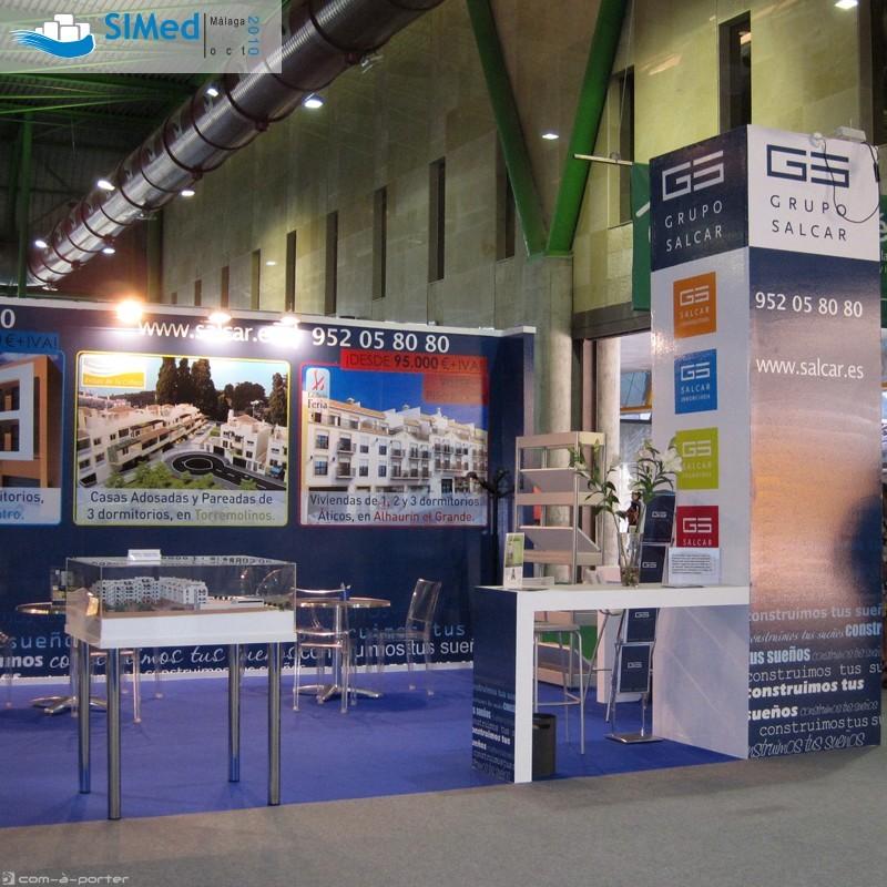 Stand modular de 50 m para 7º Salón Inmobiliario del Mediterráneo (SIMed 2010) de Grupo Salcar