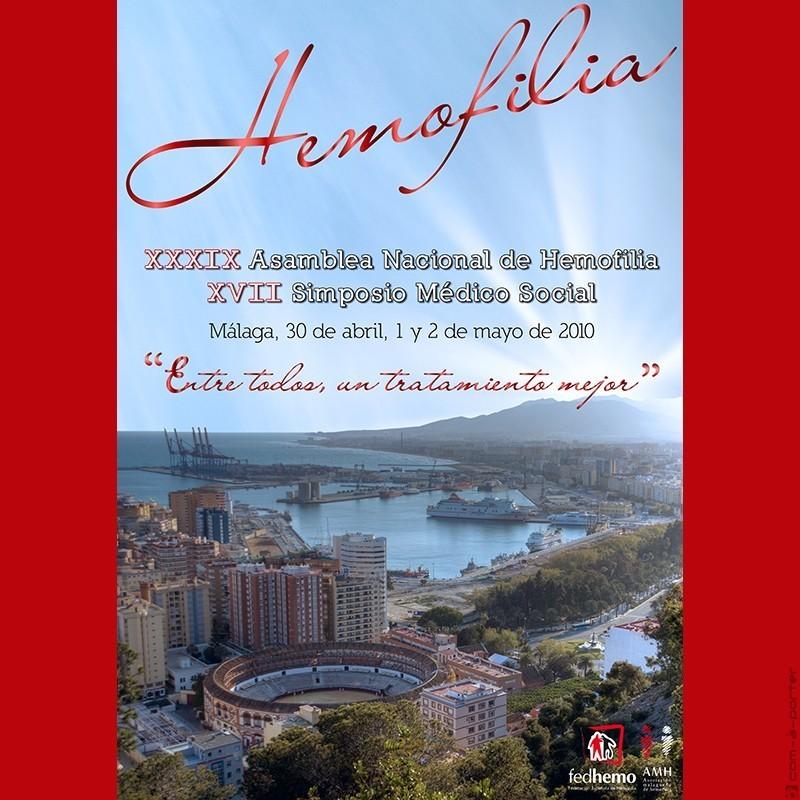 Cartelería de la XXXIX Asamblea Nacional de Hemofilia (XVII Simposio Médico Social)