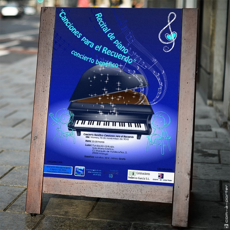 Cartel de concierto benéfico de ASA Málaga