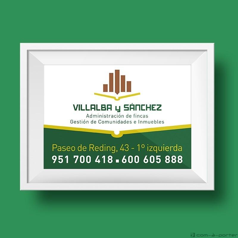 Cartel corporativo de Villalba y Sánchez
