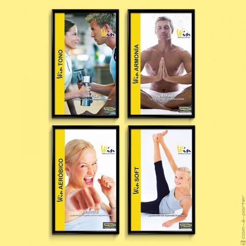 Cartelería de decoración del centro Win Wellness Center
