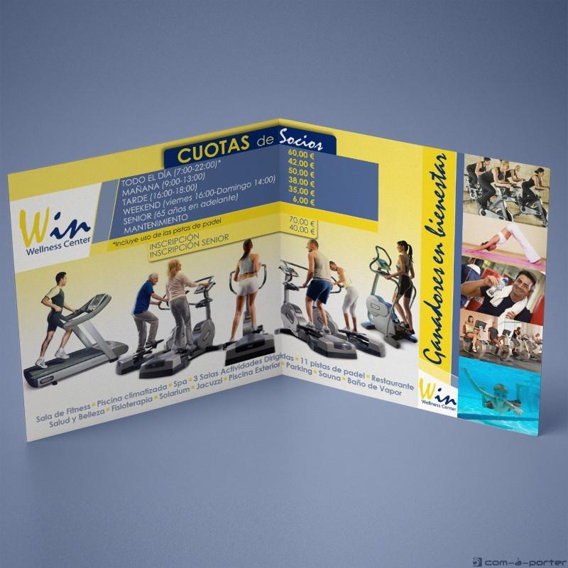 Díptico publicitario de Win Wellness Center