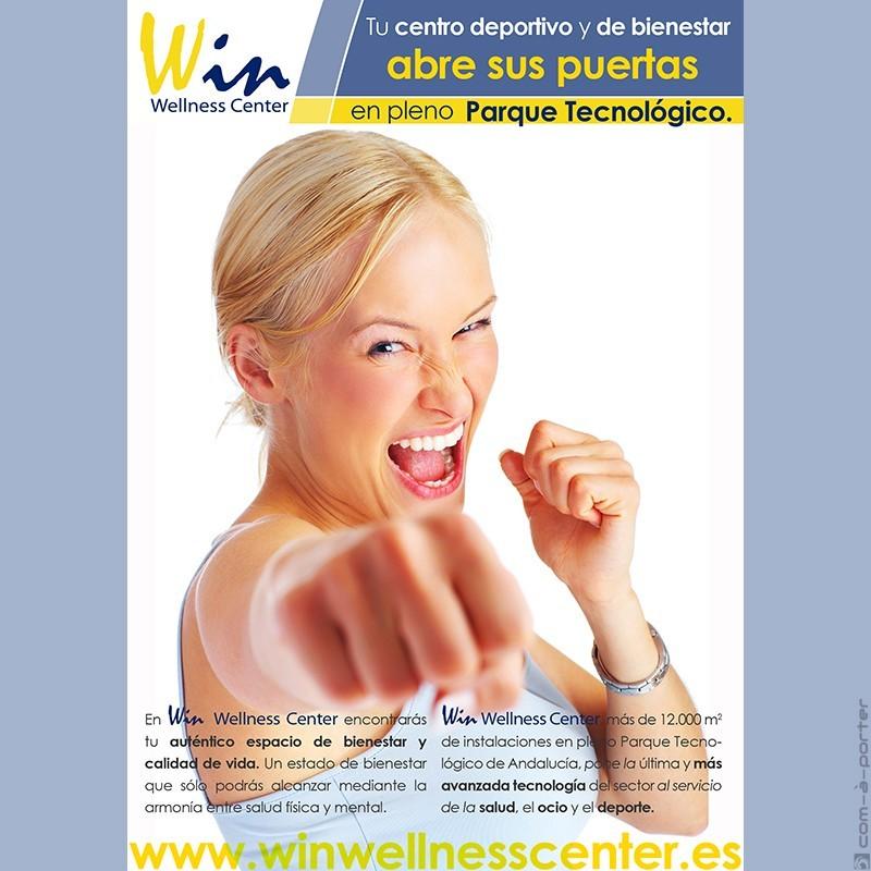Flyer publicitario de Win Wellness Center