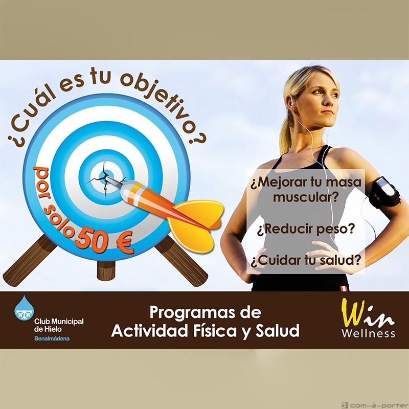Flyer Programas de Actividad Física y Salud de Win Wellness Center