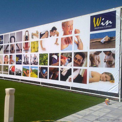 Gigantografía de exterior de Win Wellness Center