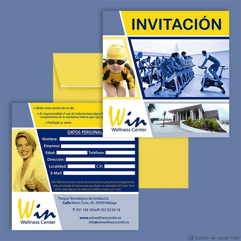 Diseño de Invitación para nuevos socios de Win Wellness Center