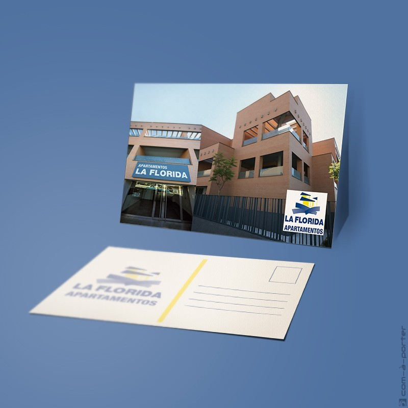 Diseño de postales de Apartamentos La Florida (Grupo Vera)