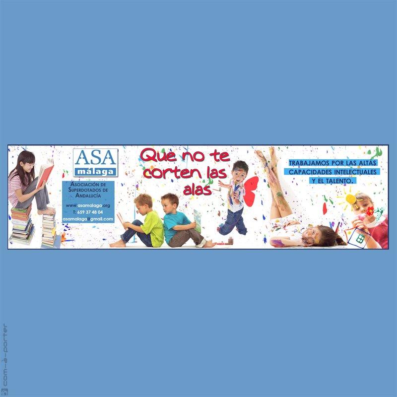 Faldón de publicidad de ASA Málaga