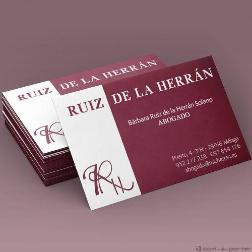 Tarjeta de visita de Ruiz de la Herrán Abogados