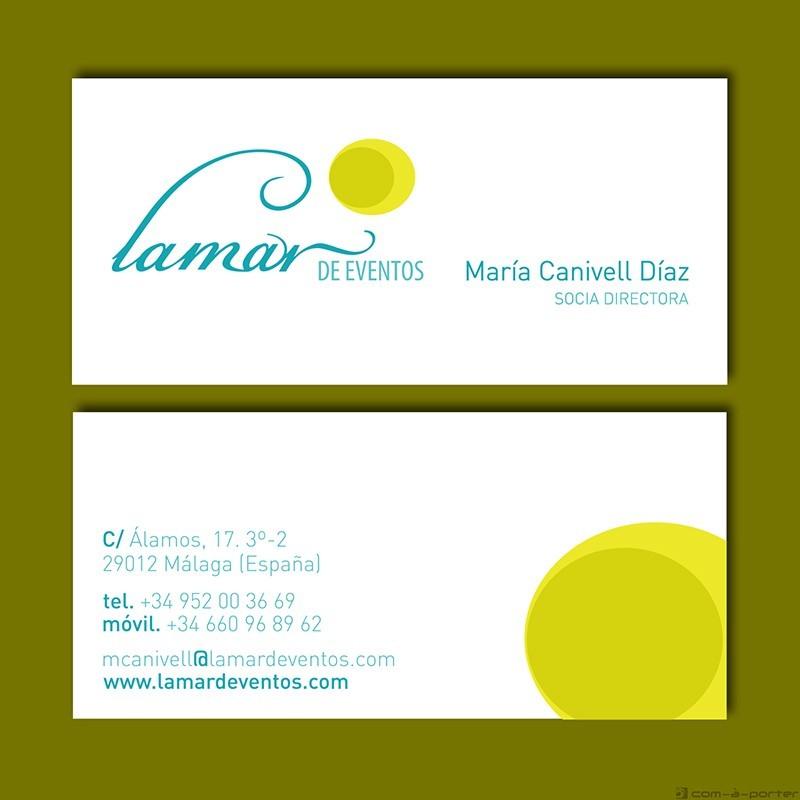 Tarjetas de Visita de Lamar de Eventos
