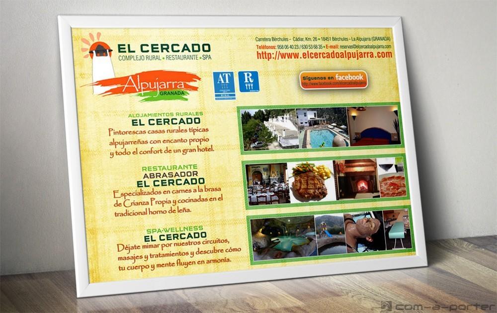 Cartel corporativo de Complejo Rural El Cercado