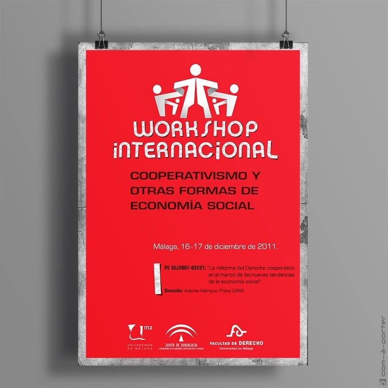 """Cartel de Workshop Internacional """"Cooperativismo y otras formas de economía social"""""""