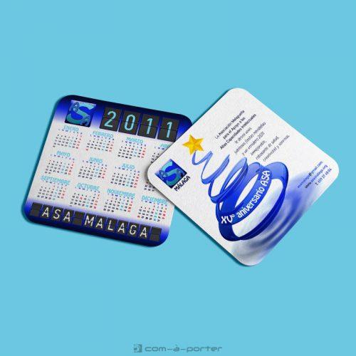 Diseño de calendario de bolsillo de ASA Málaga