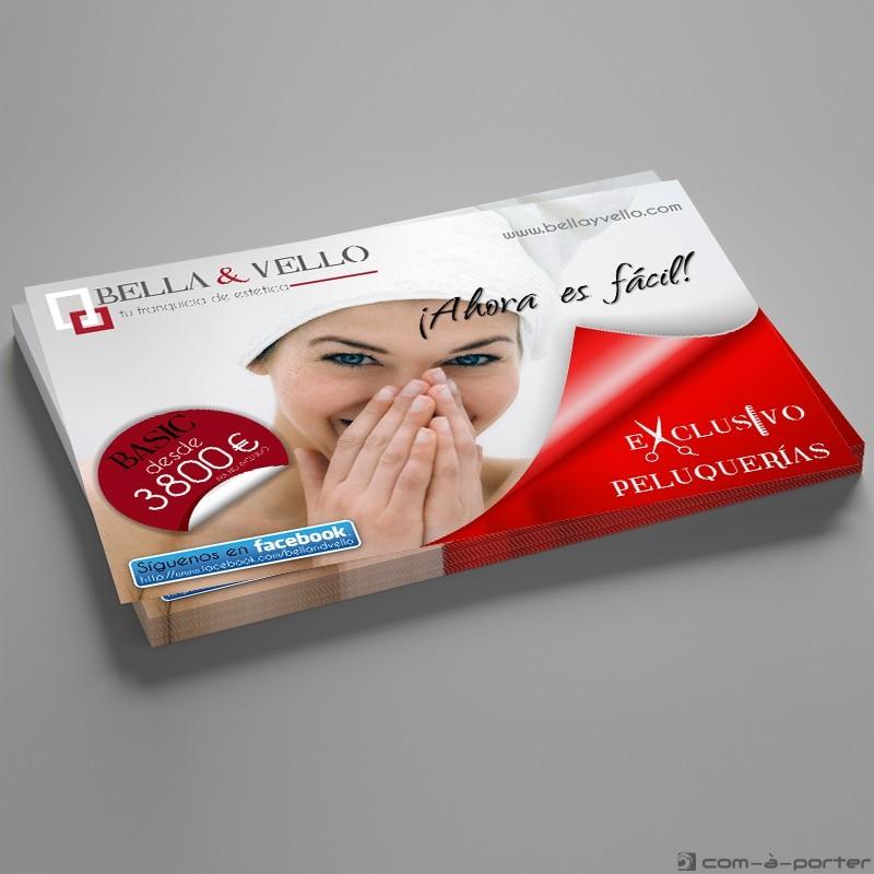 Flyer publicitario de BELLA & VELLO
