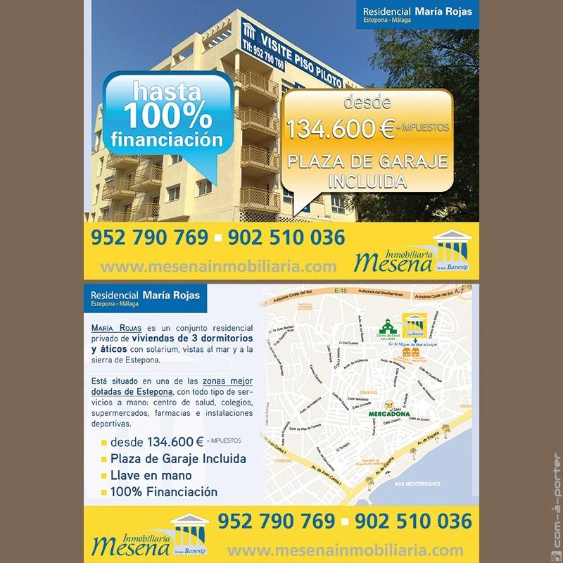 Flyer promocional de Inmobiliaria Mesena (Grupo Banesto)