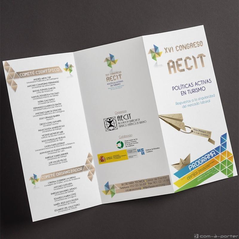 Tríptico - programa del XVI Congreso AECIT