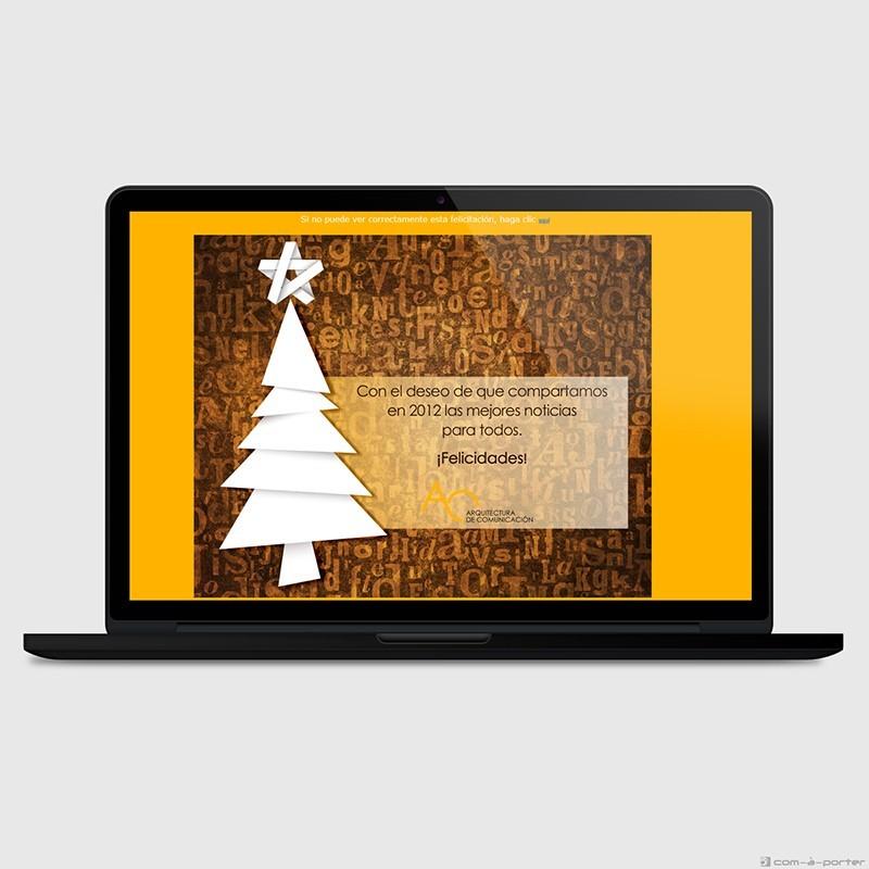 Felicitación electrónica de año nuevo 2012 (Arquitectura de Comunicación)